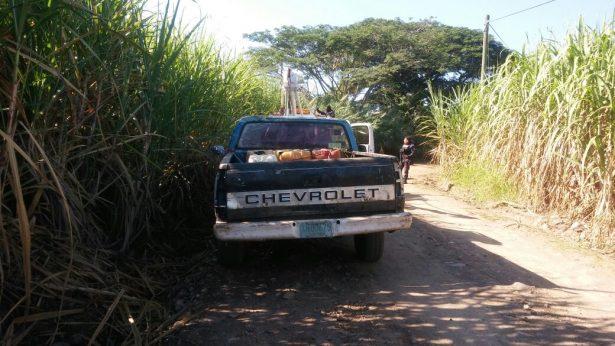 Asegura SSPM camioneta de huachicoleros e implementos