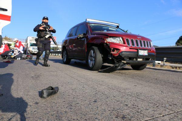 Arrollan a motociclista sobre autopista Puebla-Veracruz