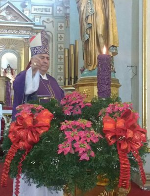 Paz, unidad y concordia pide obispo al iniciar Primer Domingo de Adviento