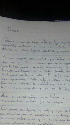Adolescente se suicida; deja carta pidiendo perdón a padres