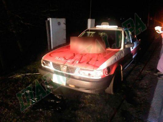 Sicarios dejan cinco cabezas sobre cofre de un taxi