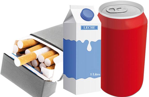 Sigue escalada de precios; ahora suben leche, cigarros y refrescos