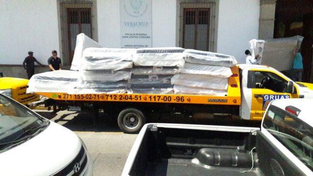 Militares y ministeriales decomisan mercancía en bodega durante operativo
