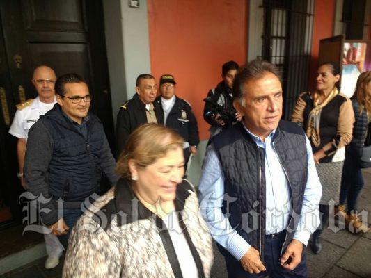 Encabeza gobernador Miguel Ángel Yunes Linares, reunión de seguridad