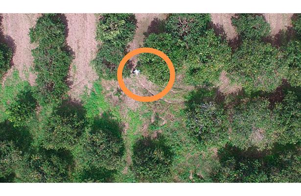 Con el uso de drones se localizó y capturó a 3 secuestradores