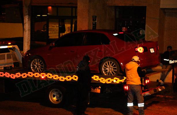 En Operativo de Alcoholimetría, mujer se niega a bajar de su automóvil