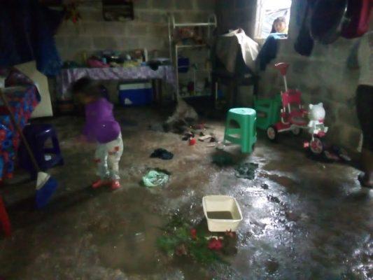 Afecta tromba 40 casas en Amatlán