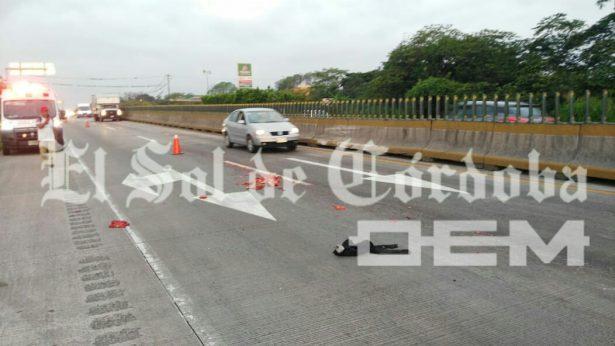Despedazan hombre en la autopista; esparcieron el cuerpo varios metros en la cinta asfáltica
