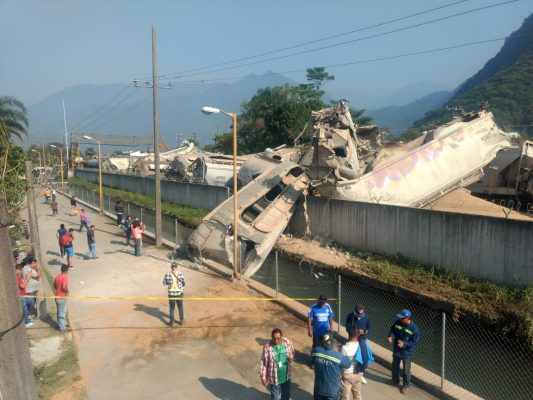 Sabotaje al tren carguero termina en terrible accidente