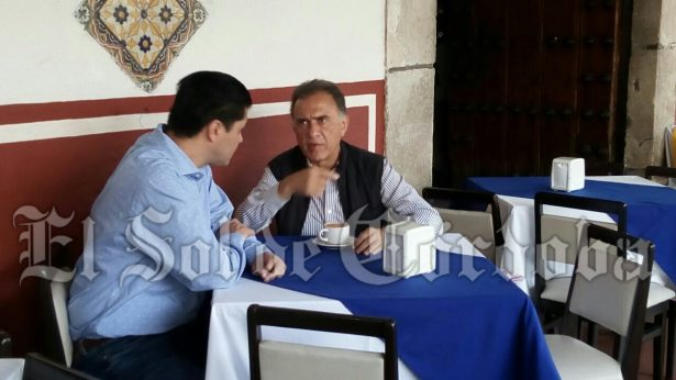 Arriba gobernador Miguel Ángel Yunes a Córdoba, para reunión de seguridad