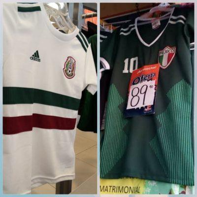 """Agotadas playeras oficiales de la Selección Mexicana; abundan las """"económicas"""""""