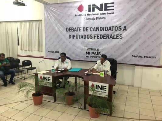 Con dos de cuatro candidatos a la diputación federal inicia debate del Distrito 16 Córdoba