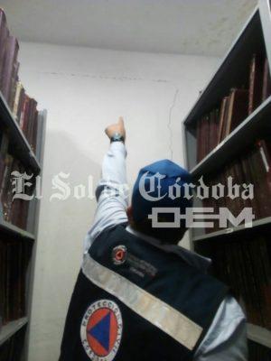 Grieta en archivo del Registro Civil