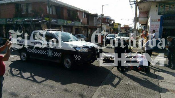 Patrulla de la Policía Estatal arrolla a motociclista