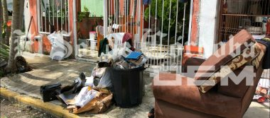Lluvia causa destrozos en vivienda