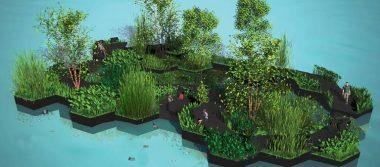 Utilizan residuos del plástico para la construcción de un parque flotante