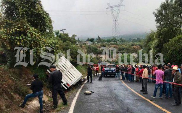 Muere motociclista tras choque en Acatzingo