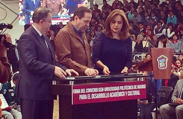 Firman convenio Edomex y Universidad Politécnica de Madrid