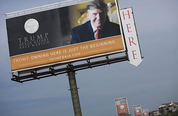 El IMPI acepta registro de cuatro marcas de Donald Trump