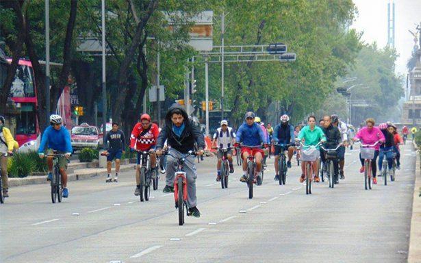 Mañana, el primer paseo dominical del año 'Muévete en Bici' en la CDMX