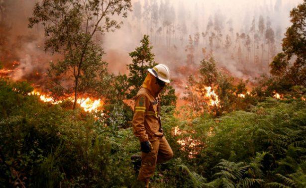 Despliegan 2 mil bomberos para sofocar incendio en Portugal