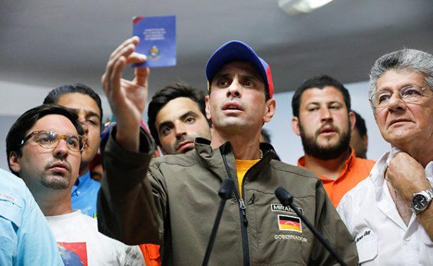 Henrique Capriles acusa a Nicolás Maduro de querer dividir a oposición