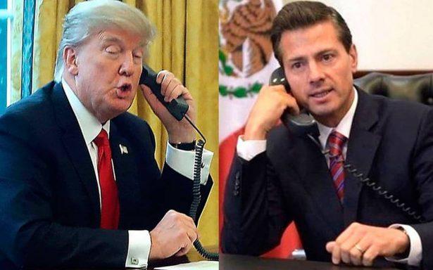 Trump habla con EPN para expresar sus condolencias por temblor