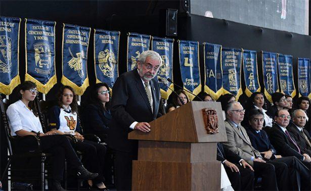 Pide el rector de la UNAM a la comunidad estudiantil no comprar drogas
