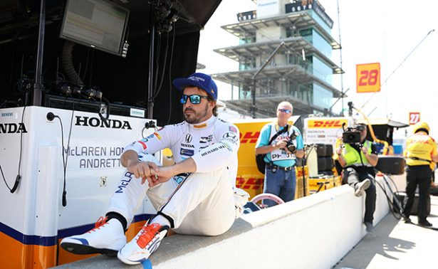 Fernando Alonso tuvo el cuarto mejor tiempo en las 500 Millas de Indianápolis