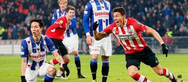 Héctor Moreno anota gol de la victoria del PSV sobre Heerenveen