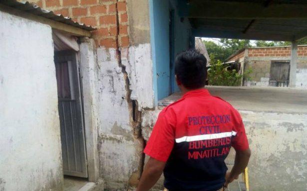 Sismo deja 19 casas dañadas en Minatitlán y Uxpanapa