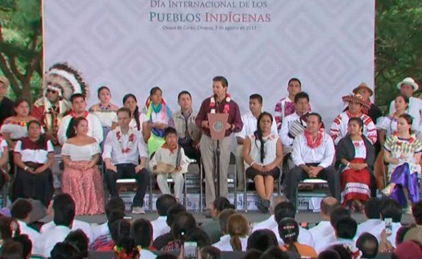 El pueblo indígena es la inspiración del México unido: Peña Nieto