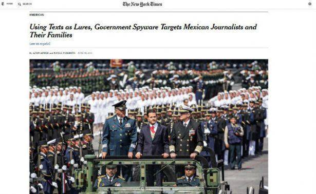 Activistas y periodistas en México son espiados por el gobierno, afirma NYT