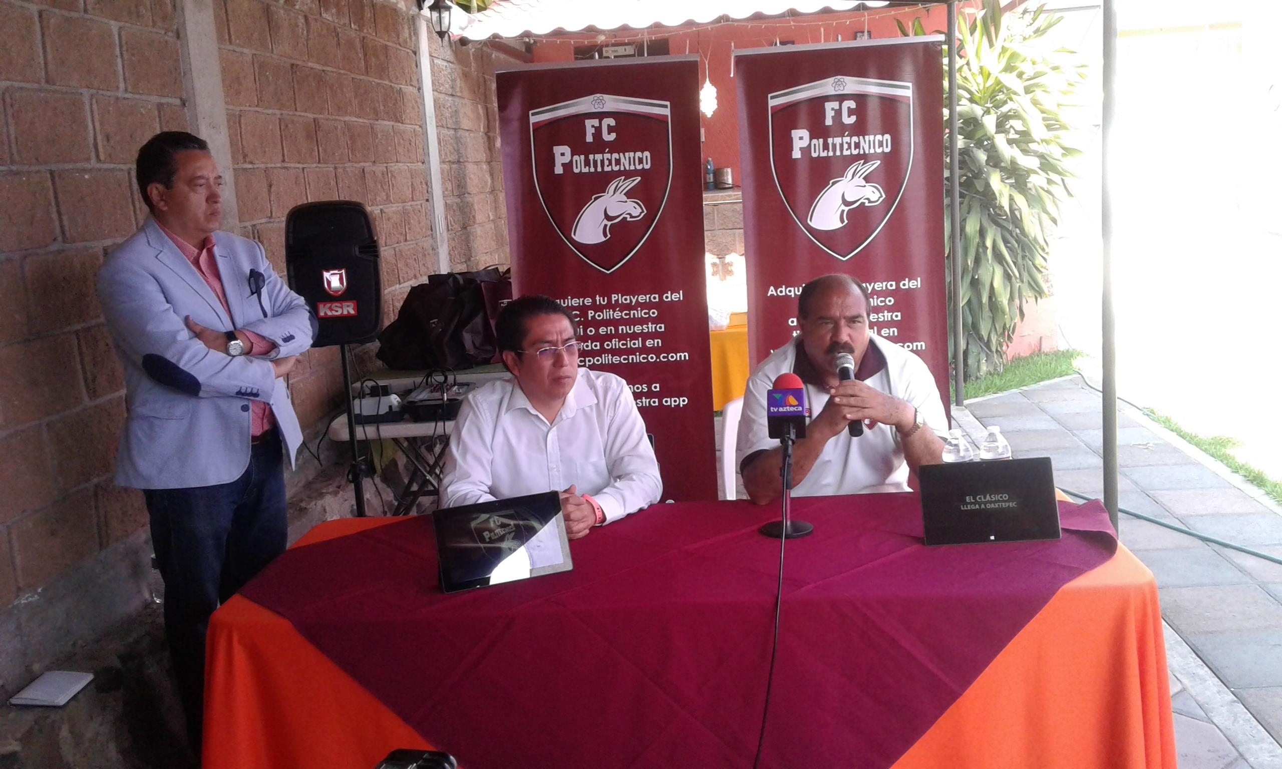 La directiva y cuerpo técnico del Politécnico anunciaron el encuentro ante Pumas en la Segunda División Premier.