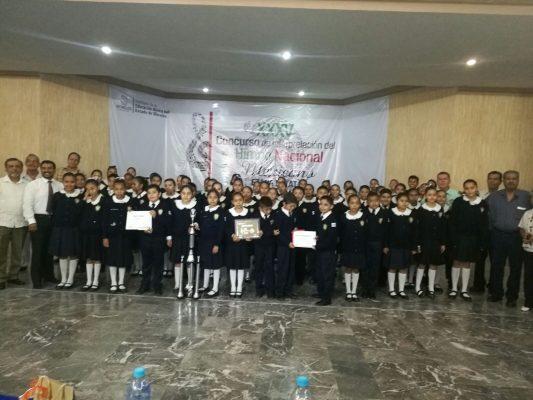 Gana primaria Plan de Ayala Concurso Estatal del Himno Nacional