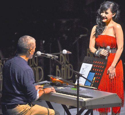 Compartió el escenario con el compositor Guillermo Méndez. Foto Cortesía