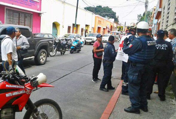 Un fuerte dispositivo de seguridad se instaló en el centro de Cuautla para intentar dar con los ladrones. Foto Cortesía