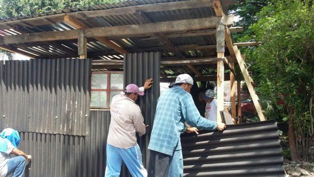 Construyen casa de cartón a recién nacida