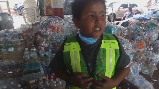 Los voluntarios más pequeños en el terremoto de Morelos