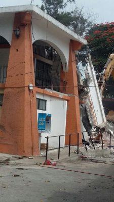 Demolido el mercado de Oaxtepec