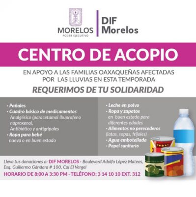 #FuerzaMexico Estos son los centros de acopio para víctimas del temblor