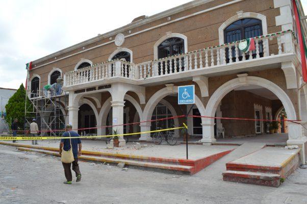 Tras sismo sufre daños Ayuntamiento de Jantetelco