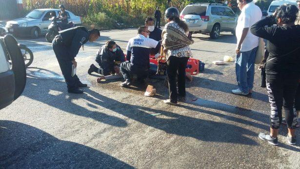 Derrapa mujer motociclista