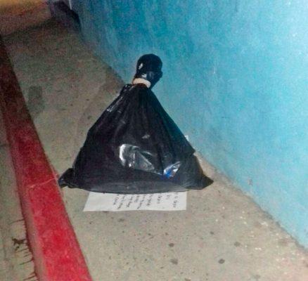 El torso del hombre fue hallado en una bolsa de plástico en Zapata.