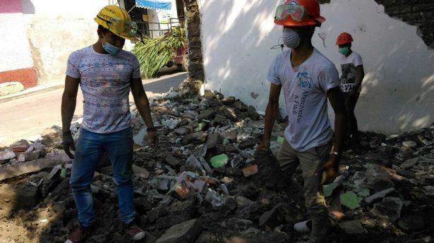 Se agilizan trabajos de demolición en Ayala