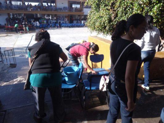 Jornada de limpieza en la Hermenegildo Galeana
