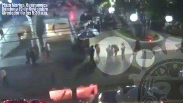 [VIDEO] Cámaras captaron homicidio en Plaza Marina