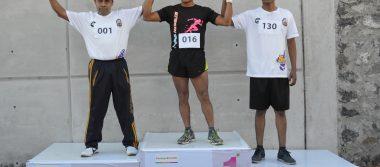 Carrera atlética de 5 km de la CES; arrasó Javier Juárez
