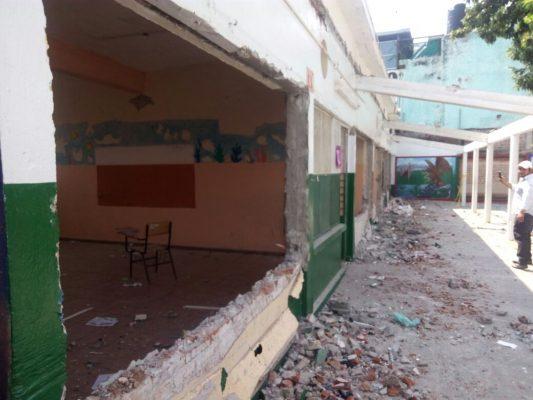 Reconstruirán 41 escuelas en menos de tres meses