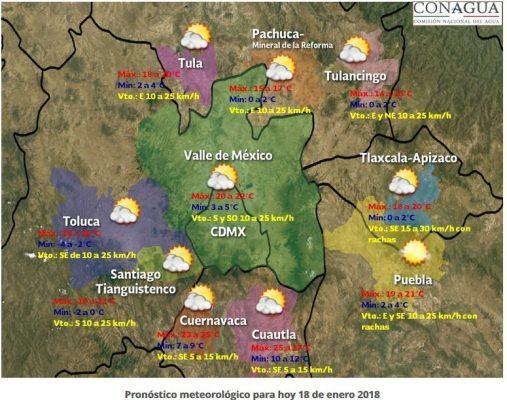 Enero, el mes más frío para Morelos